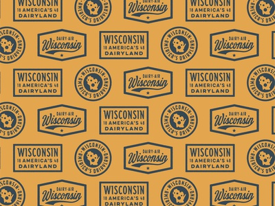 Classic State Wisconsin Badges dairy-air dairy cheese wisconsin badge