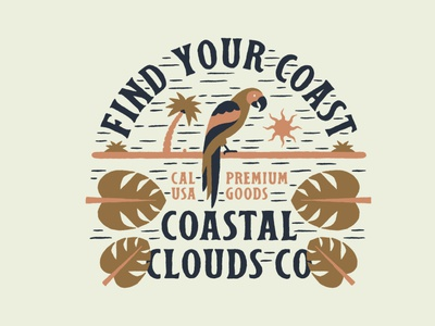 Coastal Clouds Parrot tree palm sun tropical clouds coastal parrot