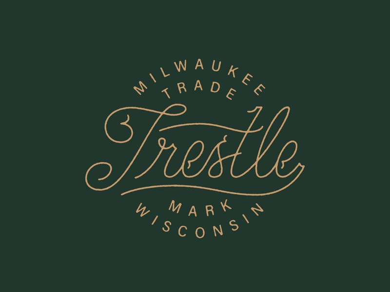 Trestle wisconsin lock-up logo badge trestle