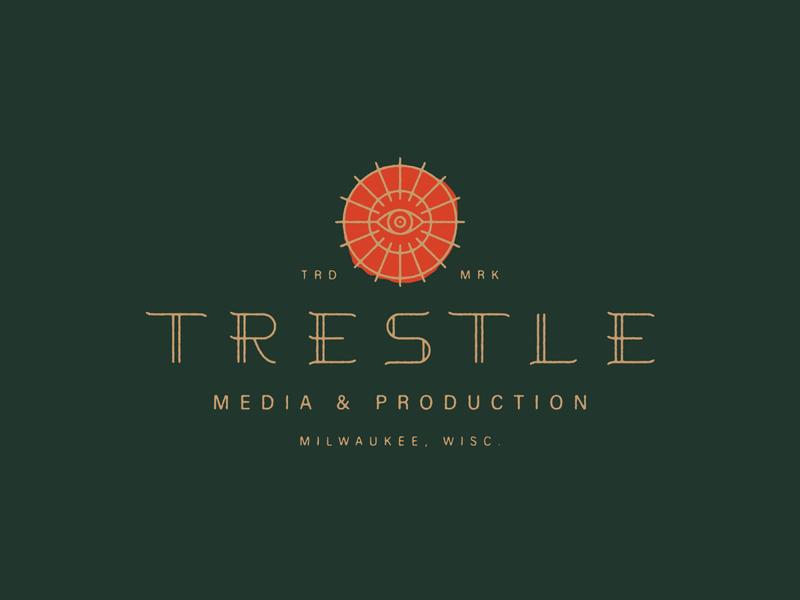 Trestle see eye typography lockup logo trestle