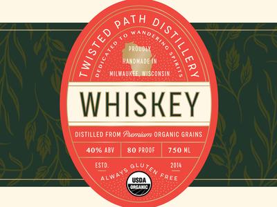 Twisted Path Distillery Label Design