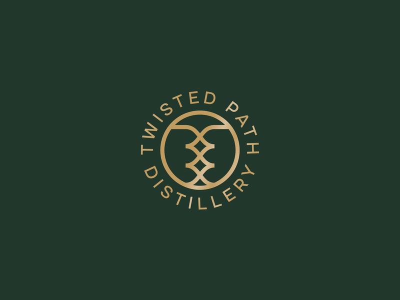 Twisted Path Distillery Logo Concept logo mark twisted path distillery alcohol