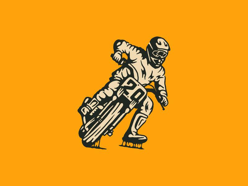 Flat Track Racer sticky race helmet moto flat track motorcycle racer