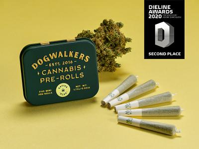Dieline Awards dogwalkers recreational marijuana weed pre-rolls dogwalkers cannabis pre-rolls cannabis packaging cannabis packaging design packaging