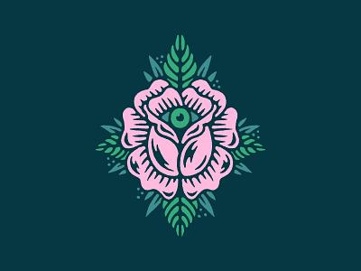 Keep it Visual flash tattoo rose flower eye