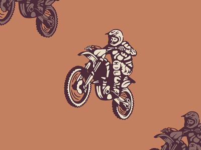 Vroom race helmet dirt bike illustration motorcycle
