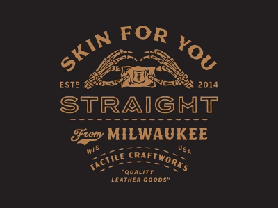 Skin For You Straight From Milwaukee stitches milwaukee skin hands skeleton leather