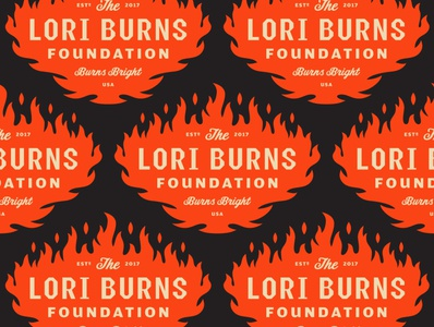Lori Burns Foundation type vector logotype milwaukee badge branding typography lettering illustration logo