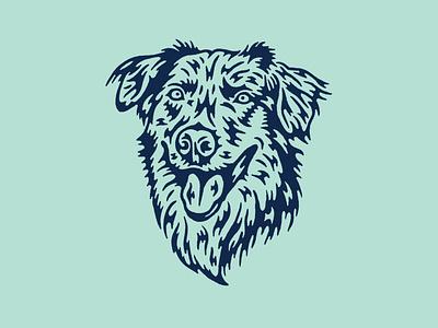 Baxter tounge ears eyes hair fur line art dogs dog drawing illustration