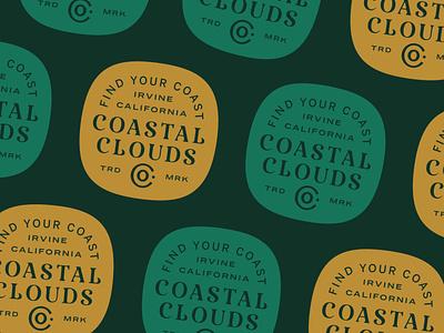Coastal Clouds Badge logo design logo custom type badge design custom typography badge