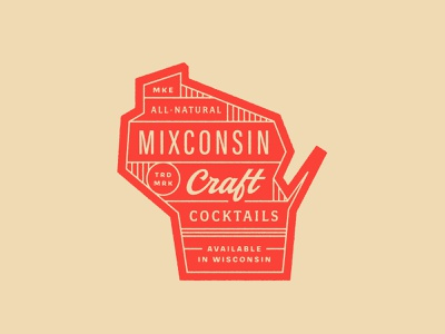 Mixconsin Craft Cocktails food and beverage custom typography typography state cocktail craft cocktails wisconsin