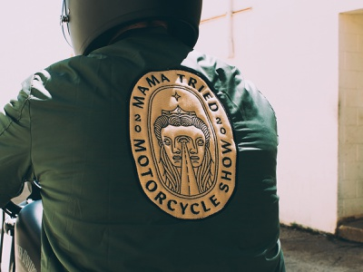 Custom Mama Tried / Flat Out Friday Jacket logo design logo embroidery mama tried flat out friday patches jacket