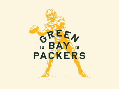 Aaron Rodgers illustration football go pack go packers nfl