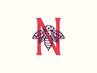 Norma's Handcrafted Snacks Logo bee logo design brand identity branding logo