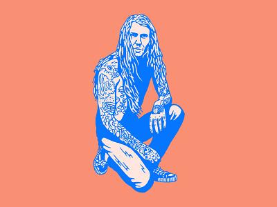Dude draw tattoos drawing illustration