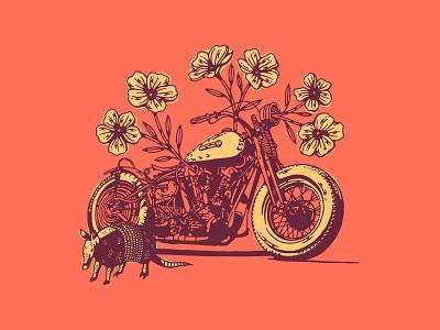 Brazil harley-davidson princess flower mama tried motorcycle armadillo brazil