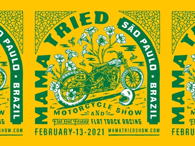 Mama Tried Brazil bike moto racing brazil motorcycle mama tried milwaukee typography illustration