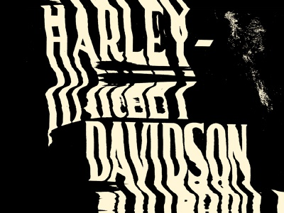 Experiment letters typography milwaukee h-d harley-davidson