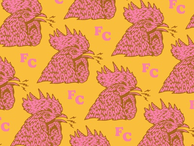 Rooster pattern bird illustration rooster