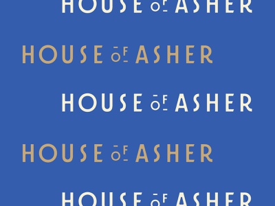 House Of Asher custom type typography logo logotype