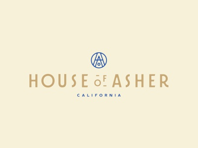 House Of Asher monogram logotype logomark logo