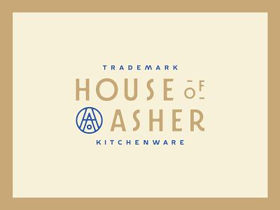 House Of Asher custom type typography logo design logo logotype