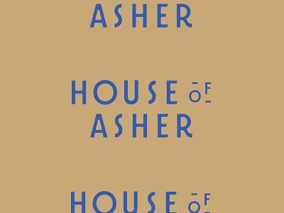 House Of Asher logo typography custom type logotype