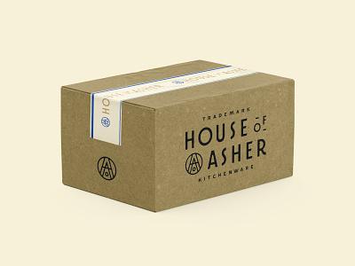 House of Asher Box logo branding packaging box