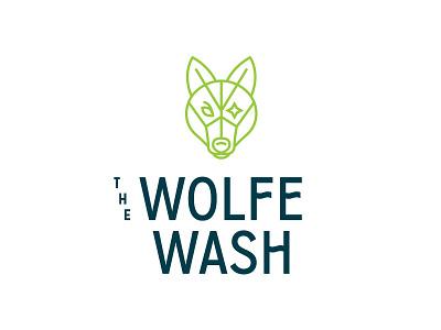 The Wolfe Wash lifework illustration wolf identity typography branding logo