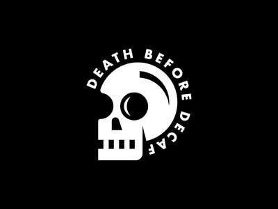 Death Before Decaf coffee illustration skull death before decaf
