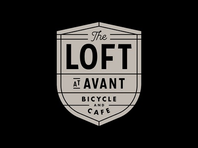 The Loft Badge coffee bikes bike badge avant the loft badge