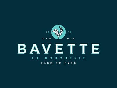 Bavette La Boucherie branding restaurant milwaukee rooster farm to fork bavette