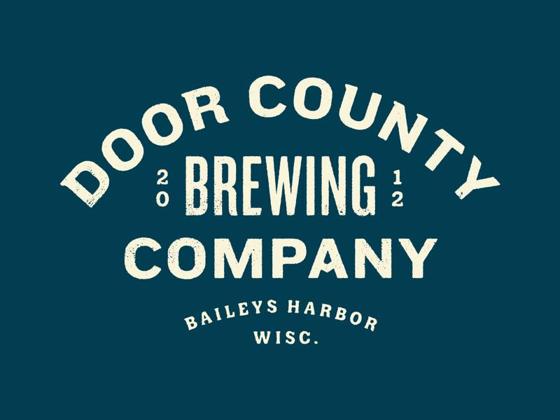 Door County Brewing Co. lettering typography apparel beer brewing wisconsin door county