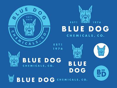 Blue Dog Chemical, Co. dog chemicals logo blue dog