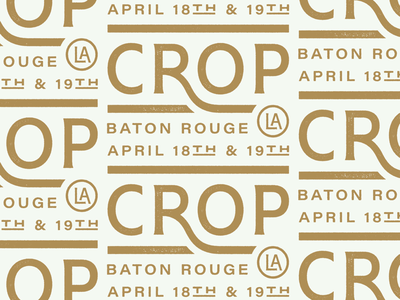 Crop baton rouge crop type typography
