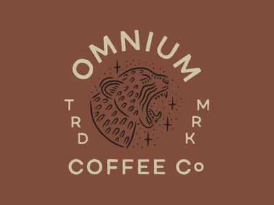 Omnium Coffee Company omnigraffle logo badge cheetah coffee omnium
