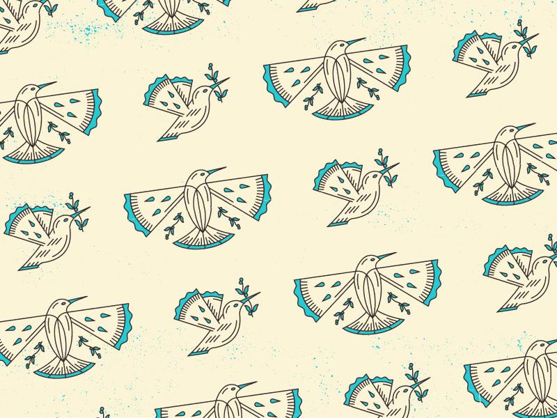 Hatched Pattern packaging fly wings birds bird pie pattern