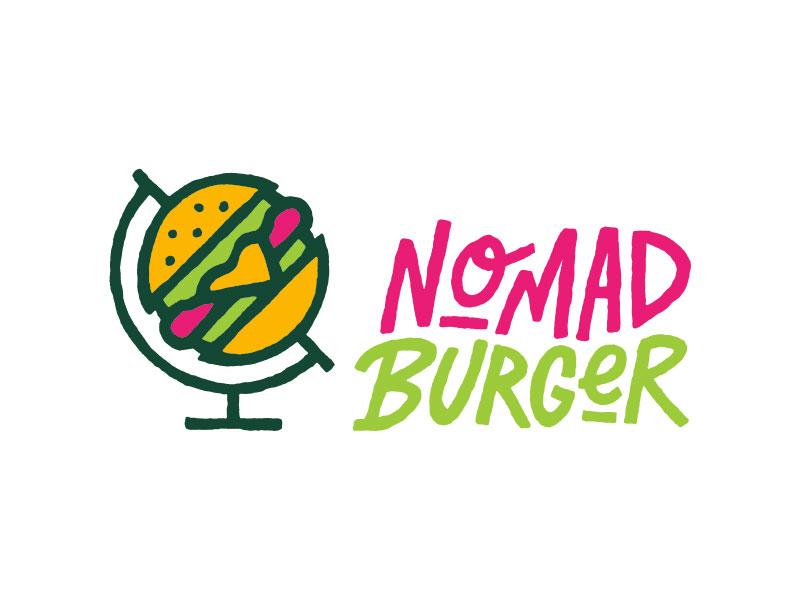 Nomad Burger logo milwaukee burger nomad branding