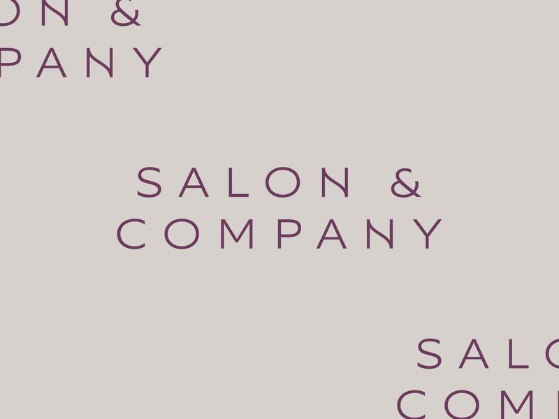 Salon & Company typography type lettering company salon