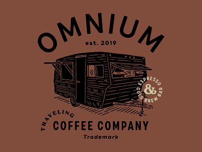 Omnium Traveling Trailer espresso cold brew drawing illustration coffee omnium trailer