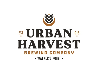 Urban Harvest Brewing Company Branding milwaukee beer brewery lockup logotype lettering logo