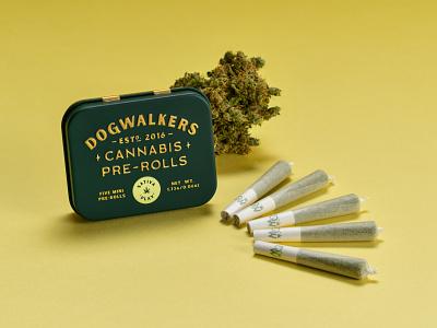 "Dogwalkers Mini Pre Rolls - Sativa ""Play"" pre-rolls tin sativa weed packaging dogwalkers cannabis"