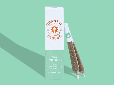 Coastal Clouds CBD Hemp Rolls packaging sativa indica cbd rolls hemp