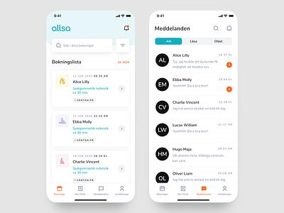 Allsa - Homepage minimal modern physiotherapy healthcare health app health ui  ux design app ui clean mobile