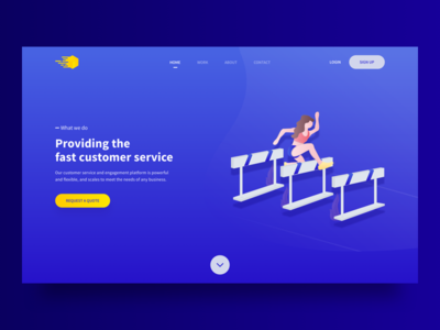 Customer Service - Landing Page