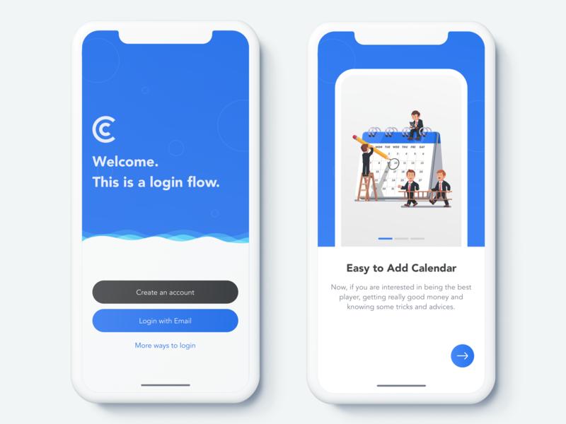Activity App - Login Screen calendar ui sketch profile plan organize mobile ios free cards calendar android