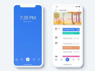 Activity App - Home Screen