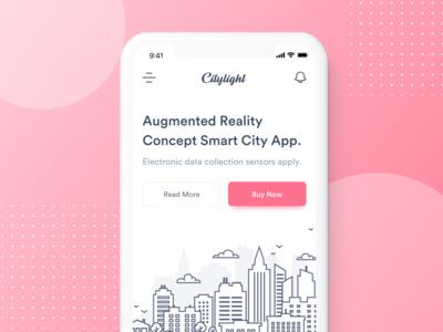 Citylight Smart City - Mobile Web energy ui  ux technology page smart ios iphone city web apps