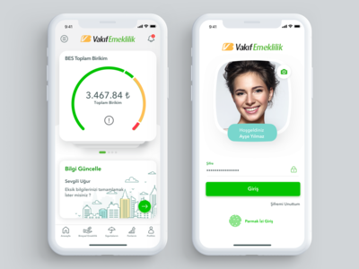 Vakıf Emeklilik - Mobile App wallet pay money mobile ios financial finance dashboard chart banking bank app