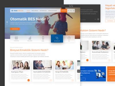 Halk Emeklilik - Website Design
